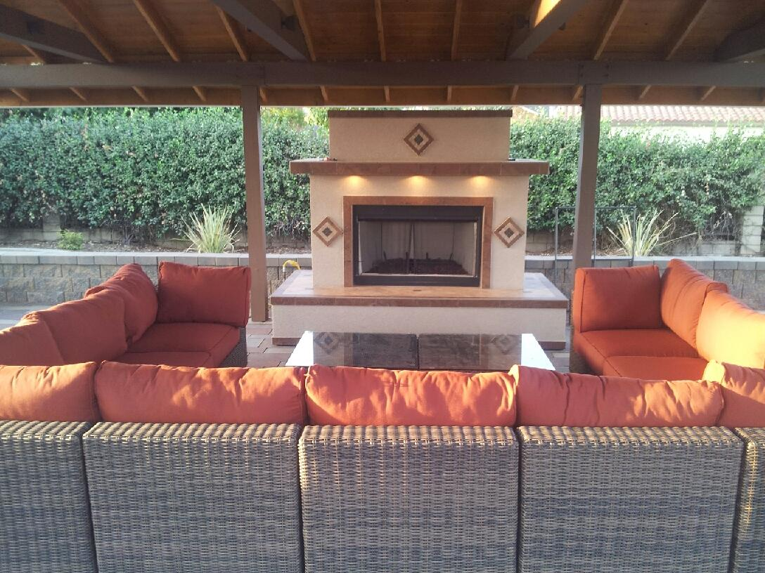 outdoor fireplace gallery propane or natural gas extreme